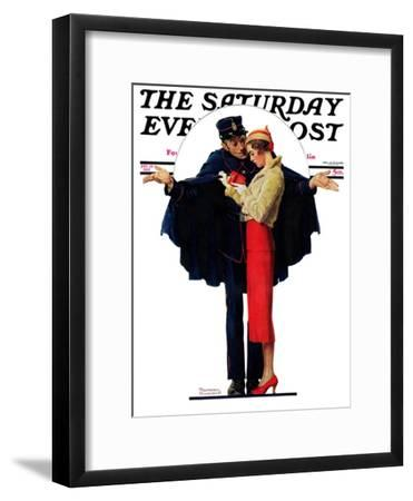 """Lost in Paris"" or ""Boulevard Haussmann"" Saturday Evening Post Cover, January 30,1932"