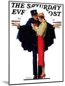 """Lost in Paris"" or ""Boulevard Haussmann"" Saturday Evening Post Cover, January 30,1932 by Norman Rockwell"