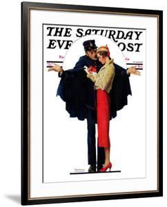 """""""Lost in Paris"""" or """"Boulevard Haussmann"""" Saturday Evening Post Cover, January 30,1932 by Norman Rockwell"""