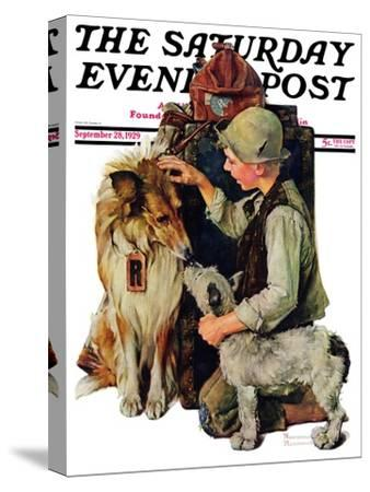 """""""Making Friends"""" or """"Raleigh Rockwell"""" Saturday Evening Post Cover, September 28,1929"""