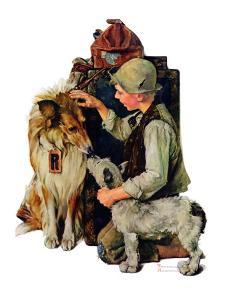 """Making Friends"" or ""Raleigh Rockwell"", September 28,1929 by Norman Rockwell"