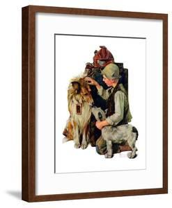 """""""Making Friends"""" or """"Raleigh Rockwell"""", September 28,1929 by Norman Rockwell"""