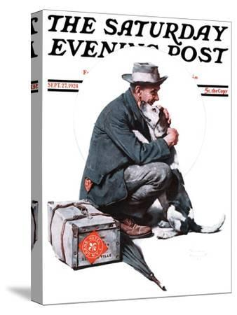 """Man and Dog"" or ""Pals"" Saturday Evening Post Cover, September 27,1924"