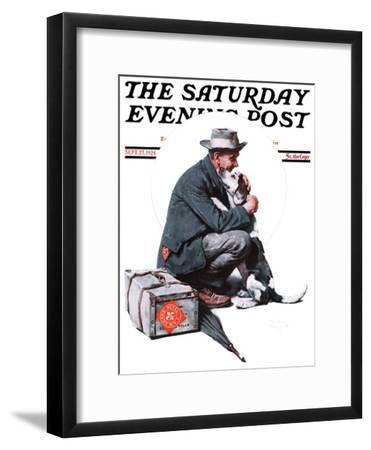 """""""Man and Dog"""" or """"Pals"""" Saturday Evening Post Cover, September 27,1924"""