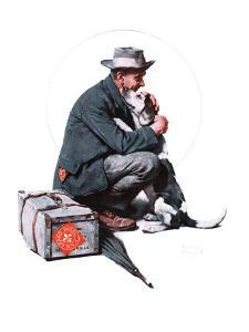 """""""Man and Dog"""" or """"Pals"""", September 27,1924 by Norman Rockwell"""