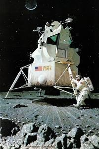 Man on the Moon (or United Stated Space Ship on the Moon) by Norman Rockwell