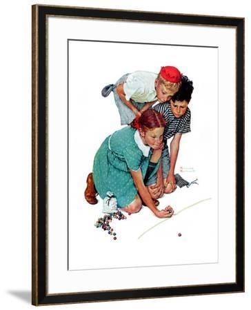 """""""Marble Champion"""" or """"Marbles Champ"""", September 2,1939 by Norman Rockwell"""