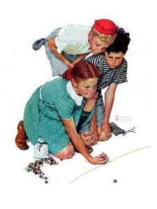 """Marble Champion"" or ""Marbles Champ"", September 2,1939 by Norman Rockwell"