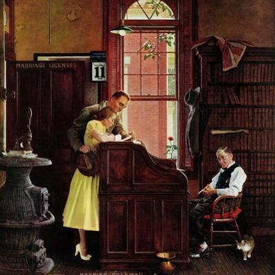 """Marriage License"", June 11,1955 by Norman Rockwell"