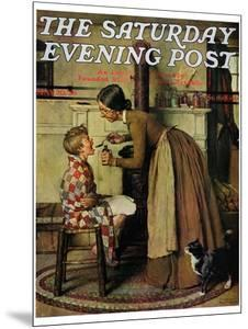 """""""Medicine Giver"""" """"Take Your Medicine"""" Saturday Evening Post Cover, May 30,1936 by Norman Rockwell"""