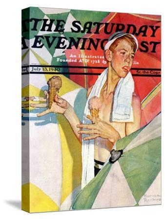 """""""Melting Ice Cream"""" or """"Joys of Summer"""" Saturday Evening Post Cover, July 13,1940"""