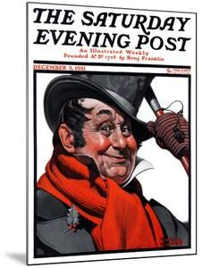 """""""Merrie Christmas"""" Saturday Evening Post Cover, December 3,1921 by Norman Rockwell"""