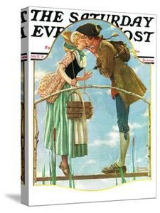 """Milkmaid"" Saturday Evening Post Cover, July 25,1931 by Norman Rockwell"
