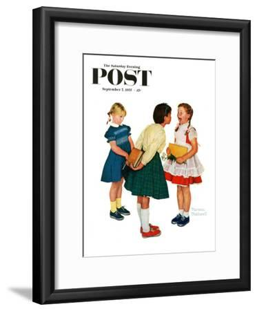 """Missing tooth"" Saturday Evening Post Cover, September 7,1957"