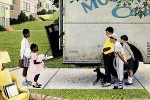 New Neighbors (or New Kids in the Neighborhood; Moving In) by Norman Rockwell