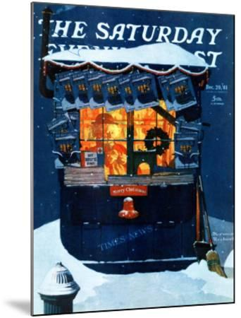 """Newsstand in the Snow"" Saturday Evening Post Cover, December 20,1941"