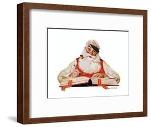 No Christmas Problem Now (or Santa with a Parker Pen) by Norman Rockwell