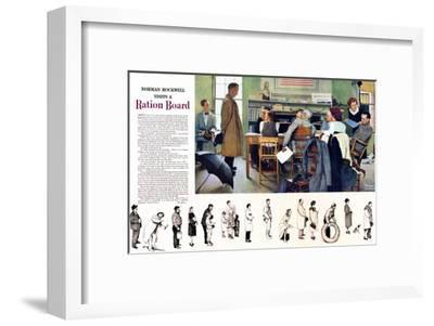"""""""Norman Rockwell visit a Ration Board"""", July 15,1944"""