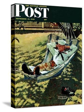 """On Leave"" Saturday Evening Post Cover, September 15,1945"