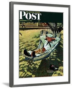 """On Leave"" Saturday Evening Post Cover, September 15,1945 by Norman Rockwell"
