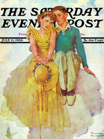 """On Top of the World"" Saturday Evening Post Cover, July 11,1936"