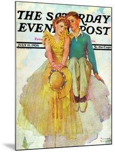 """On Top of the World"" Saturday Evening Post Cover, July 11,1936 by Norman Rockwell"