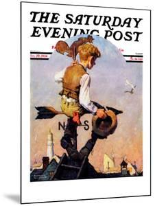 """On Top of the World"" Saturday Evening Post Cover, October 20,1934 by Norman Rockwell"