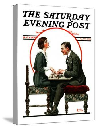 """""""Ouija Board"""" Saturday Evening Post Cover, May 1,1920"""