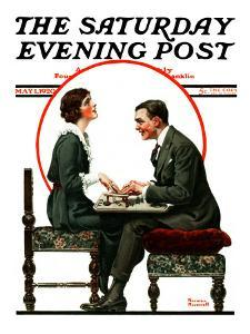 """""""Ouija Board"""" Saturday Evening Post Cover, May 1,1920 by Norman Rockwell"""