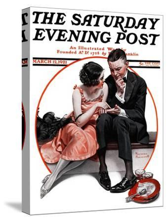 """Palm Reader"" or ""Fortuneteller"" Saturday Evening Post Cover, March 12,1921"