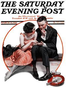 """Palm Reader"" or ""Fortuneteller"" Saturday Evening Post Cover, March 12,1921 by Norman Rockwell"