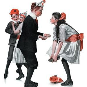 """""""Pardon Me"""", January 26,1918 by Norman Rockwell"""