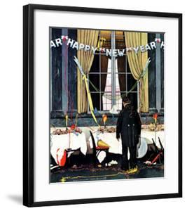 """""""Party's Over"""" or """"Happy New Year"""", December 29,1945 by Norman Rockwell"""