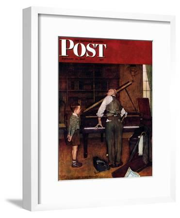 """""""Piano Tuner"""" Saturday Evening Post Cover, January 11,1947"""