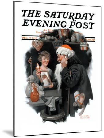 """Playing Santa"" Saturday Evening Post Cover, December 9,1916"