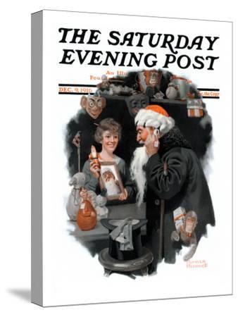 """Playing Santa"" Saturday Evening Post Cover, December 9,1916"