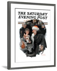 """""""Playing Santa"""" Saturday Evening Post Cover, December 9,1916 by Norman Rockwell"""