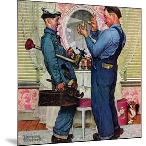 """Plumbers"", June 2,1951 by Norman Rockwell"