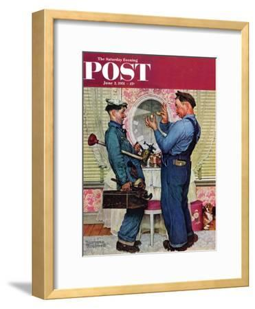 """Plumbers"" Saturday Evening Post Cover, June 2,1951"