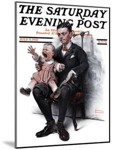 """""""Portrait"""" Saturday Evening Post Cover, July 9,1921 by Norman Rockwell"""