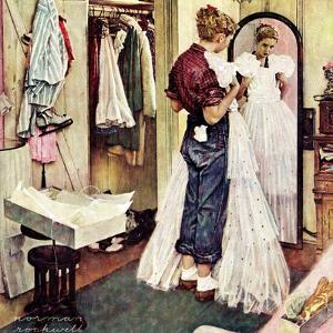 """Prom Dress"", March 19,1949 by Norman Rockwell"