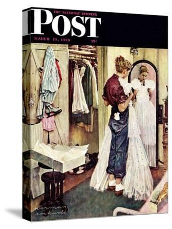 """Prom Dress"" Saturday Evening Post Cover, March 19,1949"
