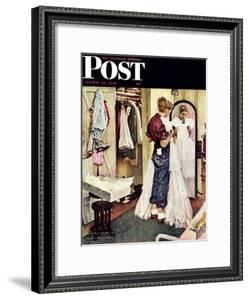 """""""Prom Dress"""" Saturday Evening Post Cover, March 19,1949 by Norman Rockwell"""