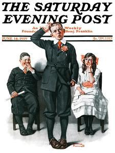 """""""Recitation"""" Saturday Evening Post Cover, June 14,1919 by Norman Rockwell"""