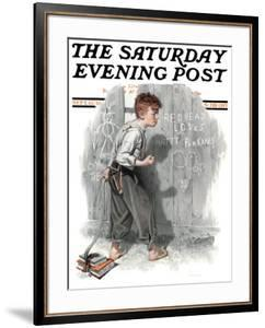 """""""Redhead Loves Hatti"""" Saturday Evening Post Cover, September 16,1916 by Norman Rockwell"""