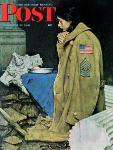 """""""Refugee Thanksgiving"""" Saturday Evening Post Cover, November 27,1943 by Norman Rockwell"""