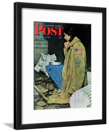 """Refugee Thanksgiving"" Saturday Evening Post Cover, November 27,1943"