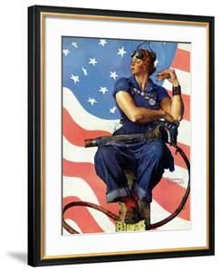 """""""Rosie the Riveter"""", May 29,1943 by Norman Rockwell"""