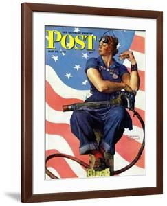"""""""Rosie the Riveter"""" Saturday Evening Post Cover, May 29,1943 by Norman Rockwell"""