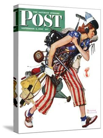 """Rosie to the Rescue"" Saturday Evening Post Cover, September 4,1943"